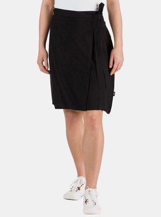 Čierna zavinovacia sukňa SAM 73