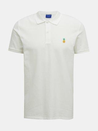 Bílé polo tričko Jack & Jones Cobana