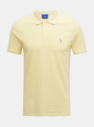 Žluté polo tričko Jack & Jones Cobana