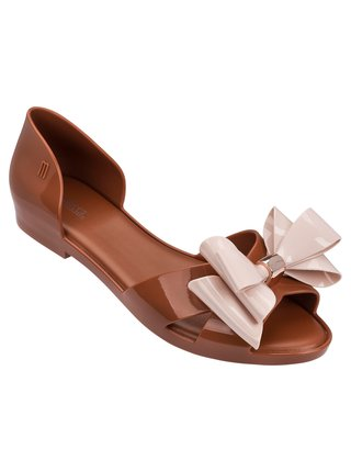 Melissa hnědé sandály Seduction II Brown/Light Pink