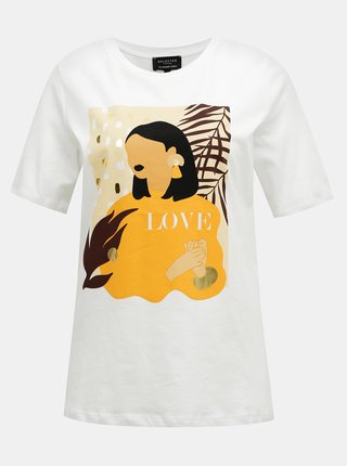 Bílé tričko Selected Femme Woman
