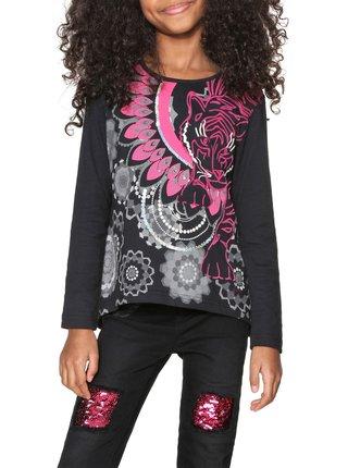 Desigual černé dívčí tričko Montreal