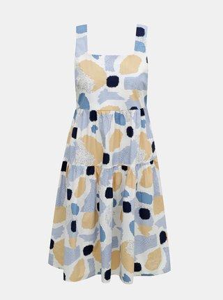Modro-biele vzorované šaty Pieces Mimi