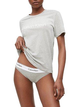 Calvin Klein šedé dámské tričko S/S Crew Neck
