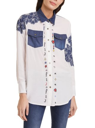 Desigual bílá košile Cam Frida