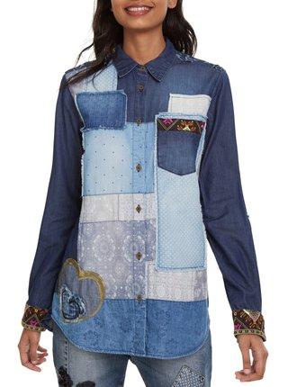 Desigual modrá denimová košile Cam Watson