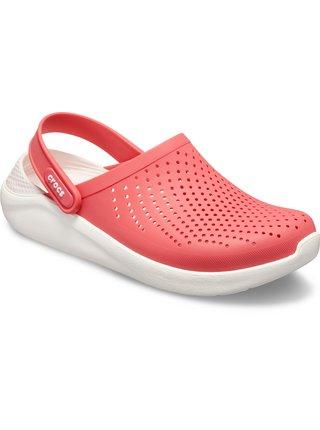 Crocs růžové boty Literide Clog Poppy/White