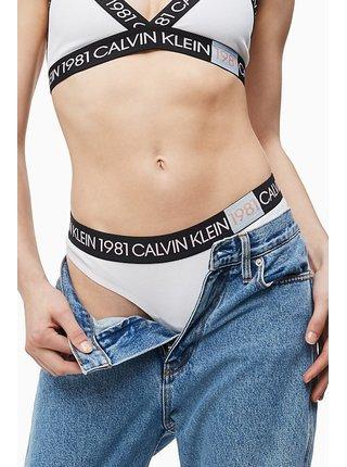 Calvin Klein bílá dámská tanga Thong