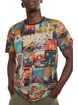 Desigual barevné pánské tričko TS Erenesto