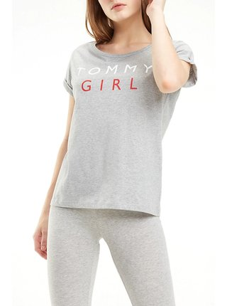 Tommy Hilfiger šedé tričko CN TEE SS s logem