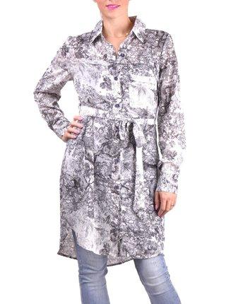 Anany bílo-černé košilové šaty Valencia Negro