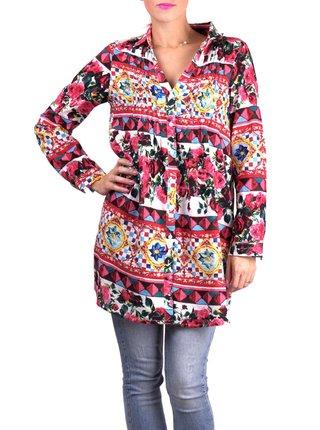 Anany barevné košilové šaty Badalona Rojo