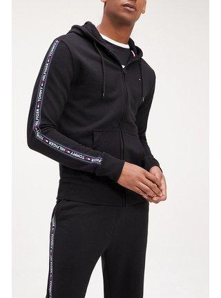 Tommy Hilfiger černá pánská mikina Hoodie LS HWK s kapucí