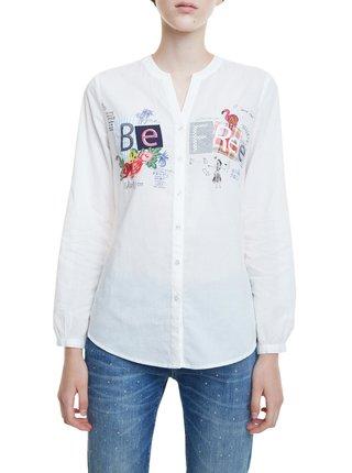 Desigual bílá košile Cam Be Free