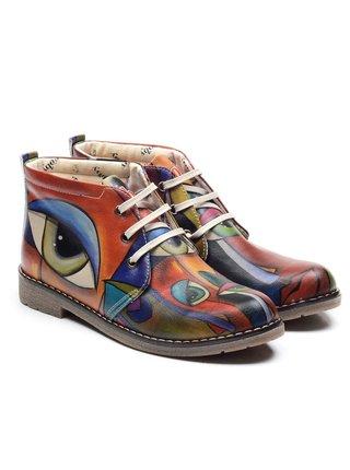 Goby barevné kotníkové boty Picasso