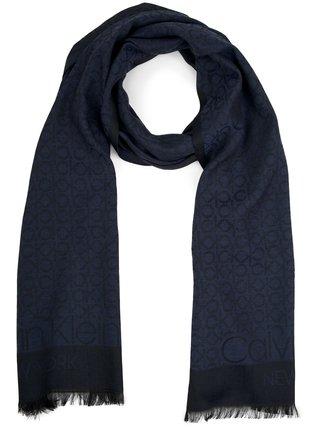 Calvin Klein tmavě modrý pánský šátek CK Mono Scarf