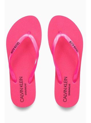 Calvin Klein růžové žabky FF Sandal