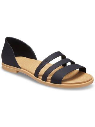 Crocs černé sandály Tulum Open Flat
