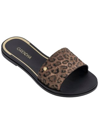 Grendha pantofle s leopardím vzorem Cacau Sublime Slide
