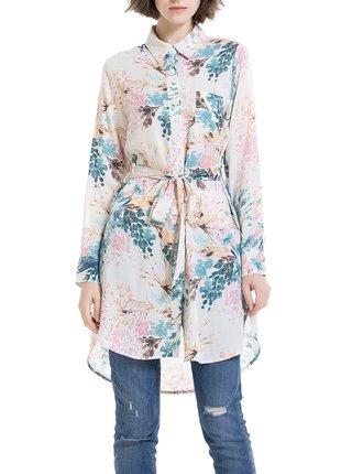 Anany béžové košilové šaty Santos