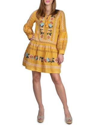 Anany žluté šaty Puebla Amarillo