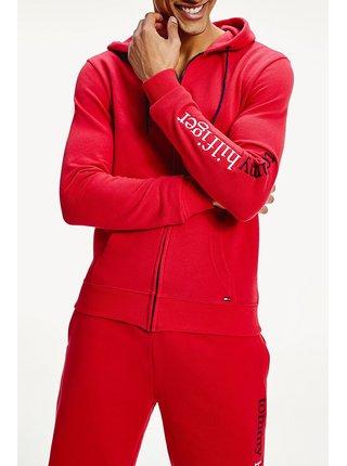 Tommy Hilfiger červená pánská mikina FZ Hoodie LWK Tango Red