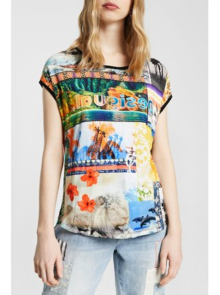 Desigual barevné oversize tričko TS Safari