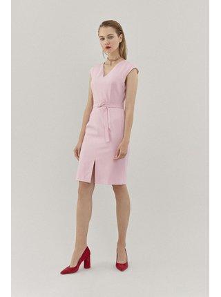 Pietro Filipi světle růžové šaty s páskem