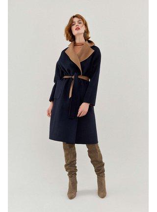 Pietro Filipi modro-béžový oboustranný vlněný kabát