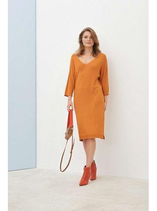 Pietro Filipi meruňkové svetrové šaty