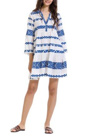Anany modro-biele šaty Rosario