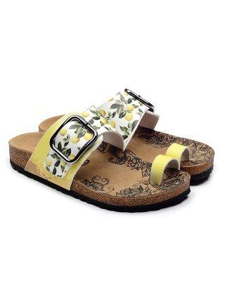 Calceo žluté sandály Thong Sandals Lemon