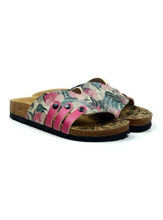 Calceo barevné pantofle Casual Slippers Hibiscus