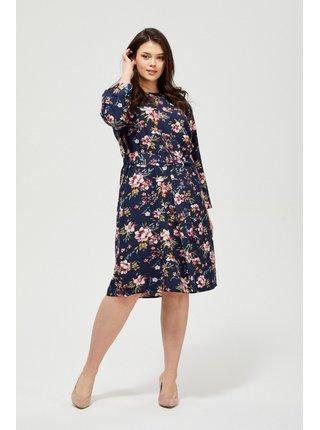 Moodo květinové šaty s vázáním v pase