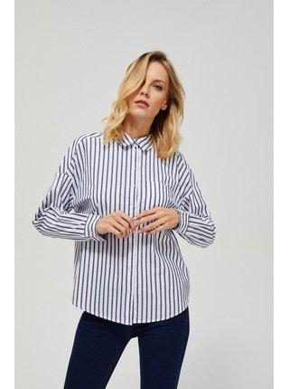 Moodo pruhovaná propínací košile s mašlí