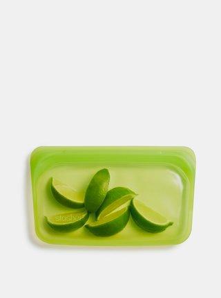 Zelený silikónový sáčok na potraviny Stasher Snack 293 ml