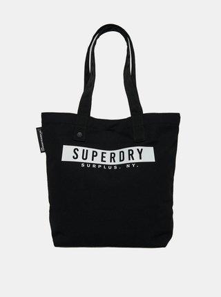 Čierna taška s potlačou Superdry