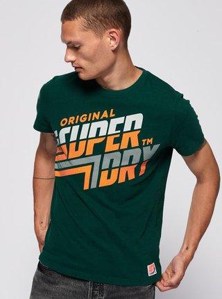 Zelené pánske tričko s potlačou Superdry