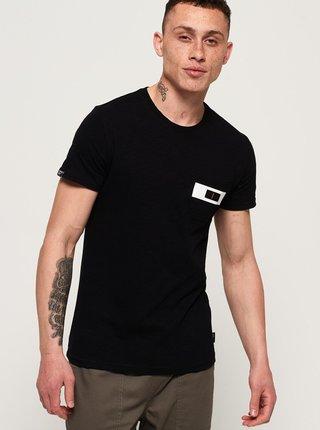 Černé pánské tričko Superdry