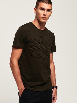 Kaki pánske tričko Superdry
