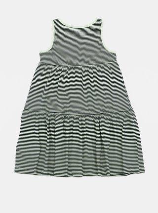 Čierno-biele dievčenské pruhované šaty name it Vigga