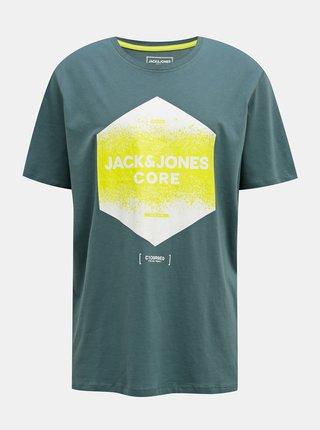 Zelené tričko Jack & Jones Splatter