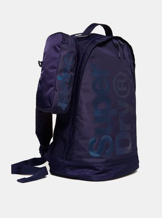 Tmavomodrý batoh s púzdrom Superdry