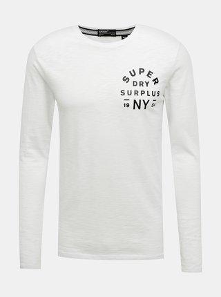 Bílé pánské tričko s lampasem Superdry