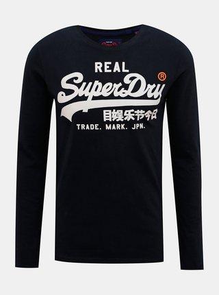 Tmavomodré pánske tričko Superdry
