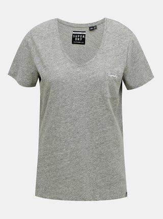 Šedé dámské tričko Superdry