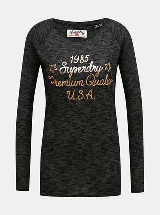 Čierne dámske tričko Superdry