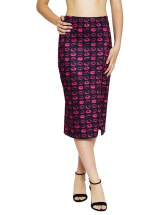 Culito from Spain černo-růžová sukně pod kolena Bebe