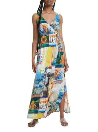 Desigual barevné maxi šaty Vest Hawai