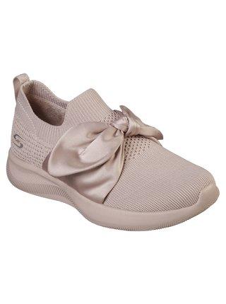 Skechers pudrově růžové slip on Bobs Squad 2 Bow Beauty